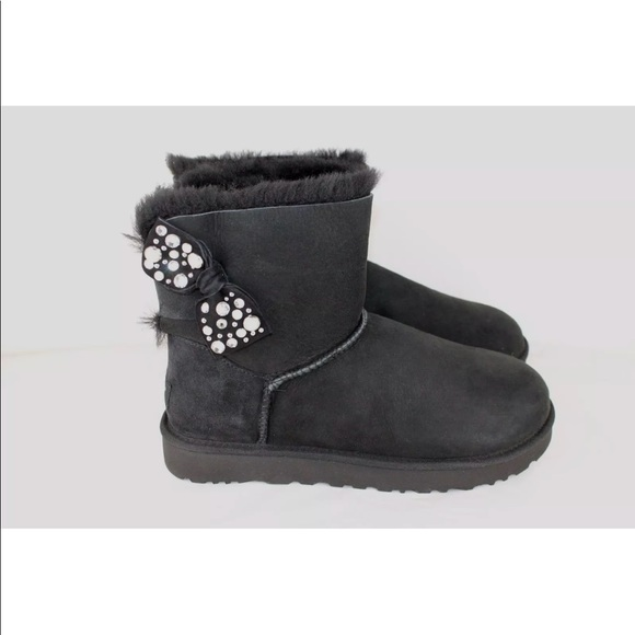 306e49922bc Ugg Mini Bailey Bow Brilliant Rhinestone Boots